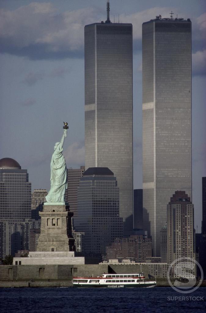 Statue of Liberty World Trade Center New York City USA : Stock Photo