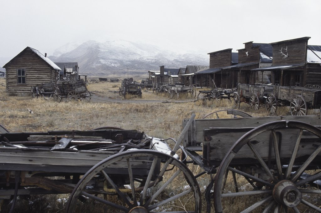 Stock Photo: 46-1141A Old Trail Town Cody Wyoming USA
