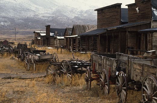 Stock Photo: 46-1143 Old Trail Town,  USA,  Wyoming,  Cody