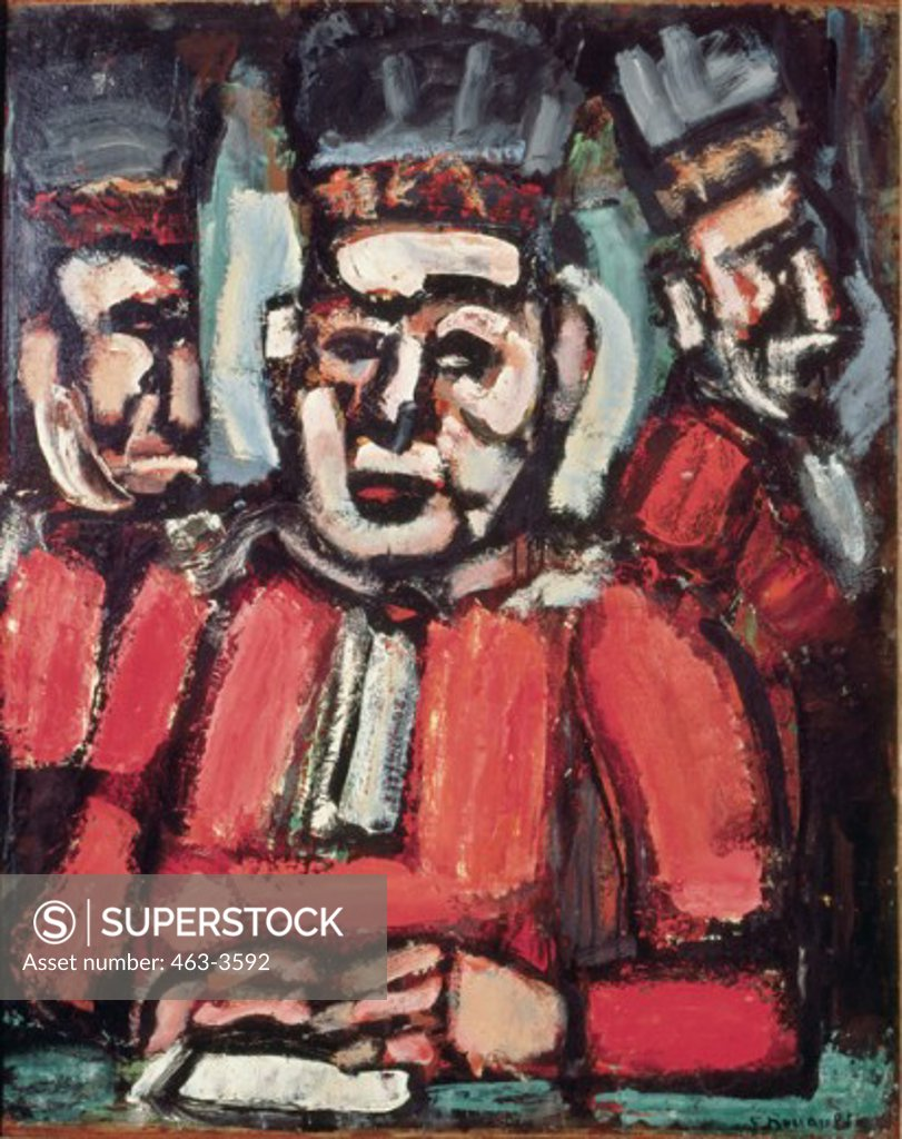 Stock Photo: 463-3592 The Three Judges 1937/38 Georges Rouault (1871-1958 French) Tate Gallery, London, England