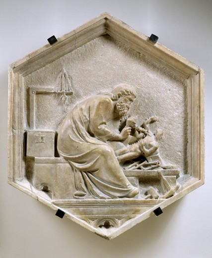 Stock Photo: 463-281792 Andrea Pisano;Phidias;Relief , c.1334