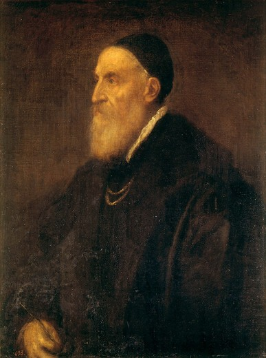 Stock Photo: 463-281808 Titian;self-portrait 1570 (Madrid).