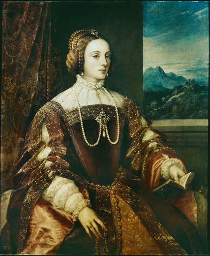 Isabella of Portual;Titian;1547 : Stock Photo