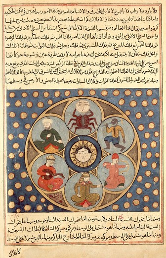 Stock Photo: 463-281882 Planetary table;Turkish miniature