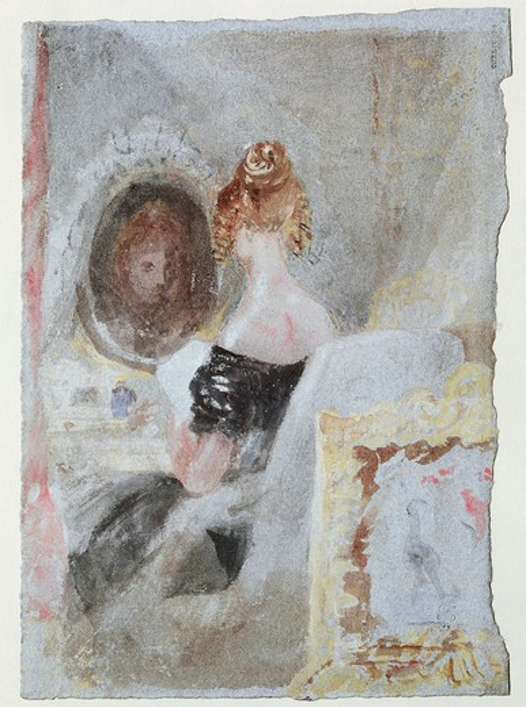 W.Turner, Frau vor dem Spiegel -  - : Stock Photo