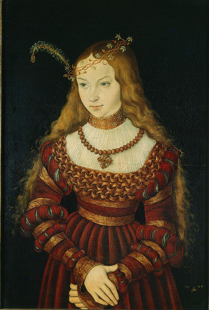 Stock Photo: 463-281979 Sibylle von Cleve , L. Cranach t.E.