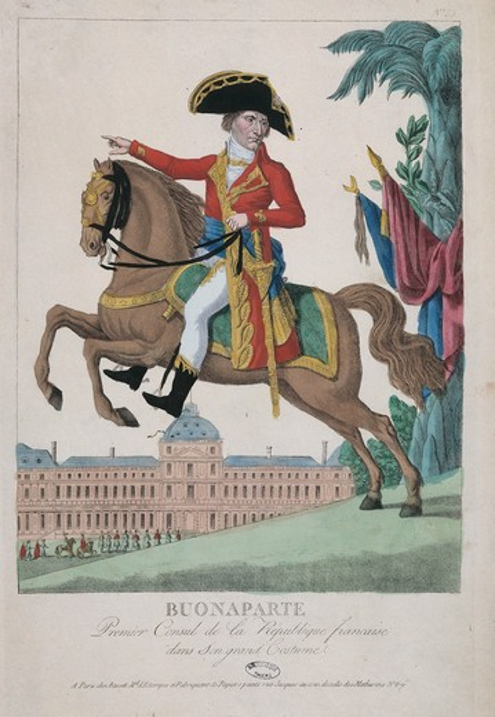 Napoleon Bonaparte  , etching : Stock Photo