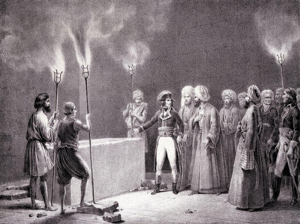 Stock Photo: 463-282044 Egypt 1798 , Bonaparte in Giza , Litho.