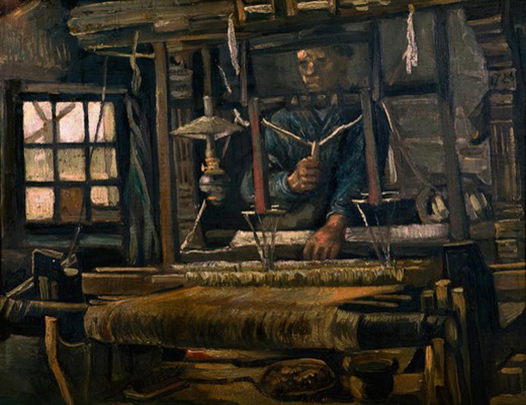 V.van Gogh, Weber am Webstuhl -  -  : Stock Photo