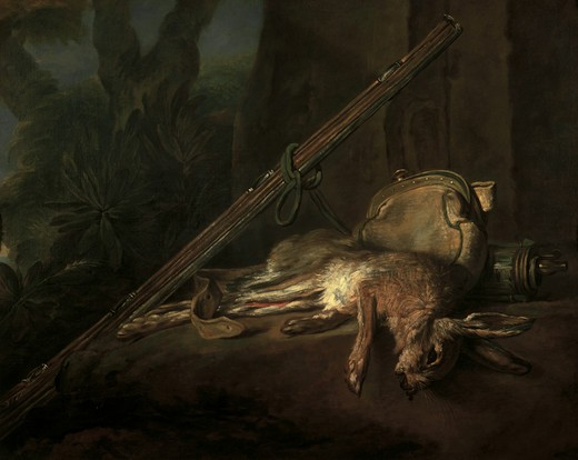 Stock Photo: 463-282157 Chardin / Dead Hare & Gun / 1753