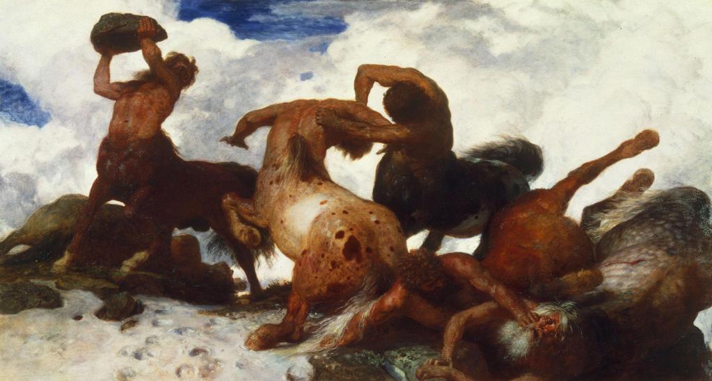 Stock Photo: 463-282386 A. B|cklin / Battle of the Centaurs