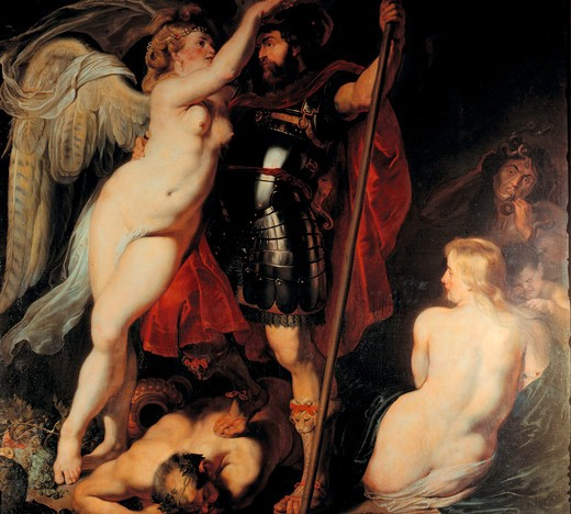 Stock Photo: 463-282407 P. P. Rubens / The Hero of Virtue ...