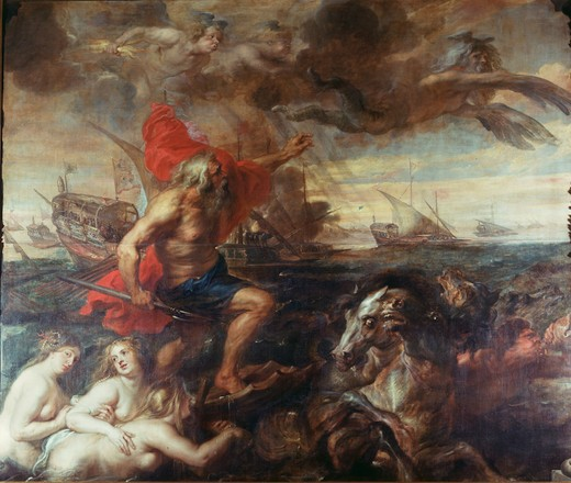 Rubens / Neptune, calming the Waves : Stock Photo