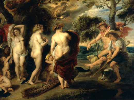P. P. Rubens / Judgement of Paris / Copy : Stock Photo