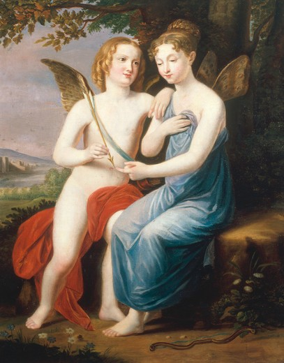 Stock Photo: 463-282443 Amor and Psyche / Painting