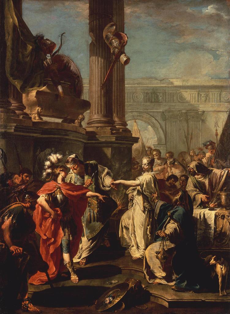G.B.Pittoni / Sacrifice of Polyxena : Stock Photo