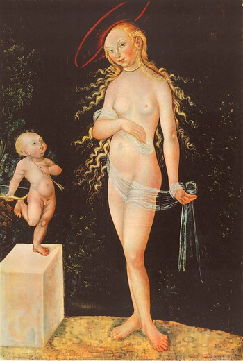 Stock Photo: 463-282508 L.Cranach the Elder, Venus and Cupid