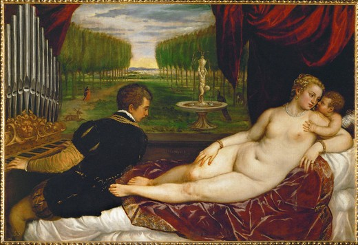 Stock Photo: 463-282510 Titian / Venus with organ player