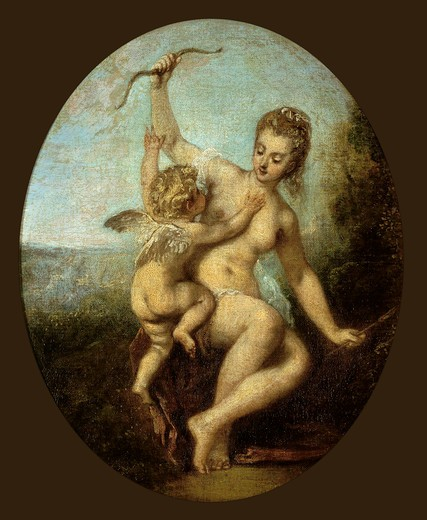 Stock Photo: 463-282520 Watteau / Venus disarms Amor