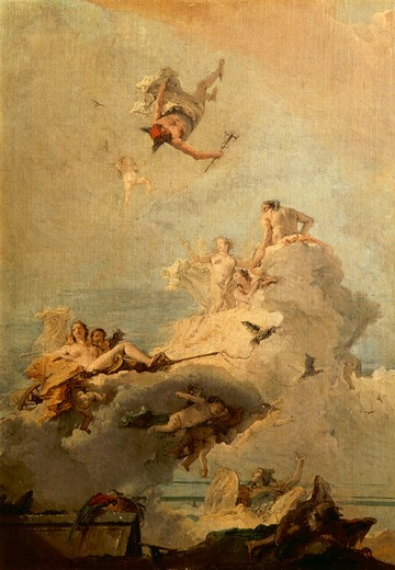 G.B.Tiepolo / Triumph of Venus : Stock Photo