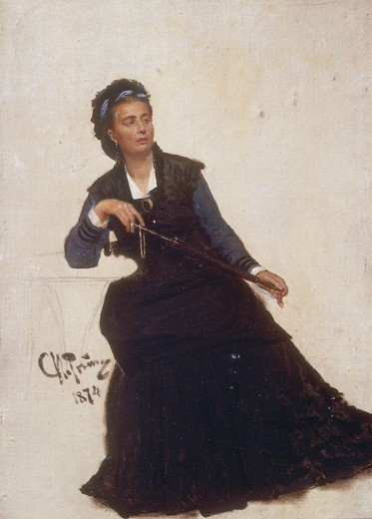 Ilya Repin, Woman playing with Umbrella : Stock Photo