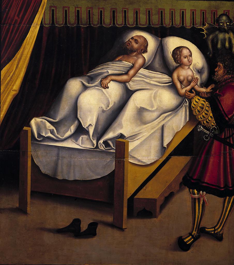 L.Cranach the Elder/9th Commandment/1516 : Stock Photo