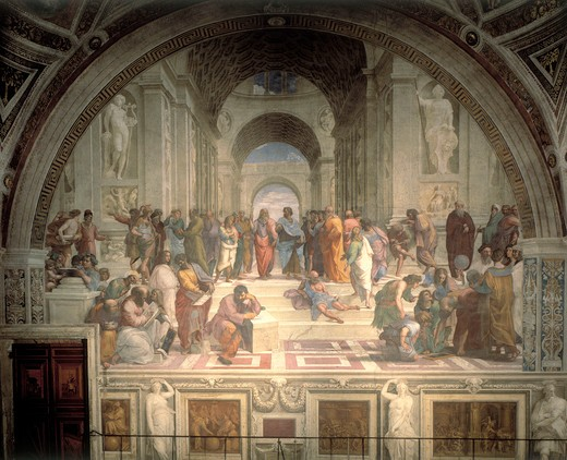 Stock Photo: 463-282679 Raphael / The School of Athens / 1508-11