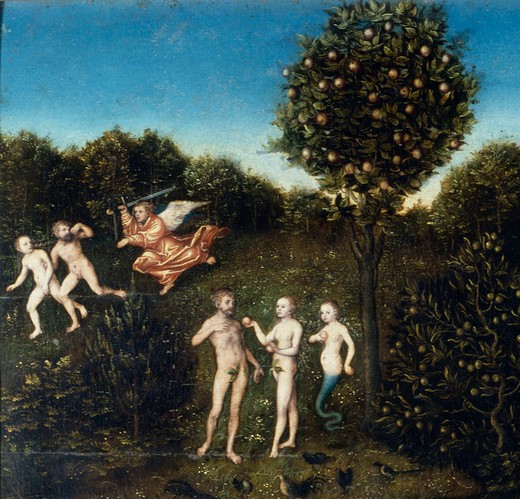 L.Cranach t.E./Fall from Grace/Expulsion : Stock Photo