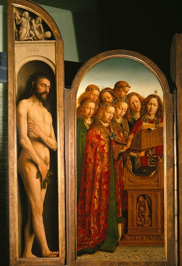 Jan van Eyck, Genter Altar, Adam / 1432 -  - Jan van Eyck / Retable / Gand / Adam : Stock Photo