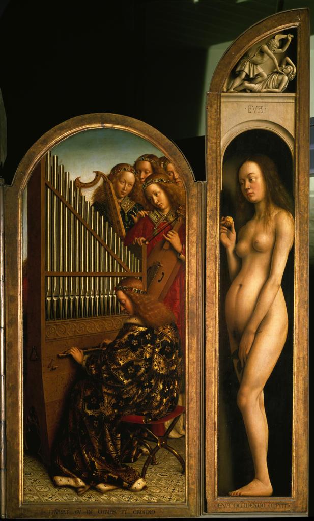 Jan van Eyck, Genter Altar, 'Eva' / 1432 -  - Jan van Eyck/Retable/Gand/'Eve'/1432 : Stock Photo