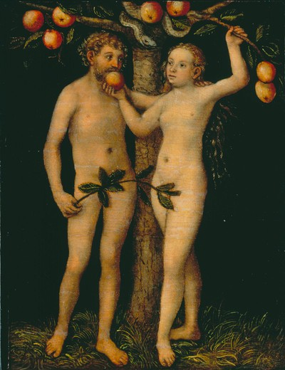 L.Cranach the Elder/Adam and Eve/c.1546 : Stock Photo
