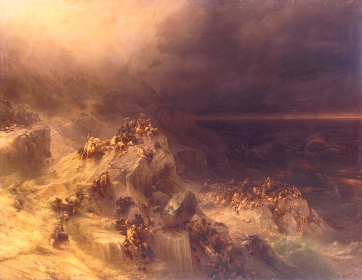 Stock Photo: 463-282776 I.K.Aivazovsky / The Flood / 1864