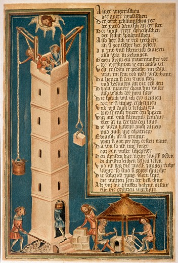 Stock Photo: 463-282783 Tower of Babel / Illumination / c.1411