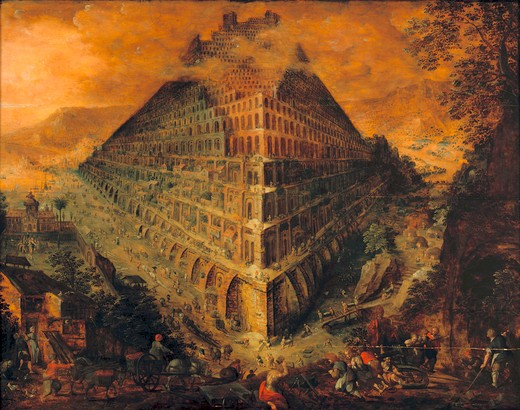 The Tower of Babel / Valckenborch : Stock Photo