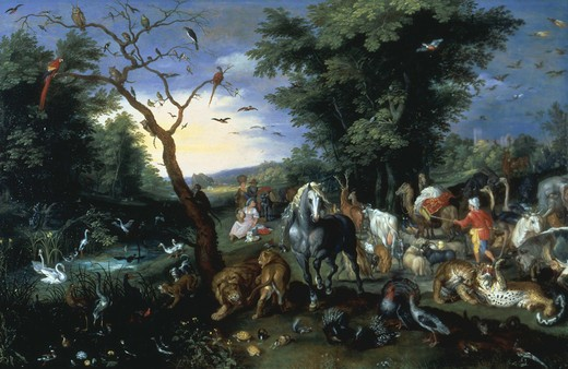 Stock Photo: 463-282791 Noah's Ark & the animals / Brueghel