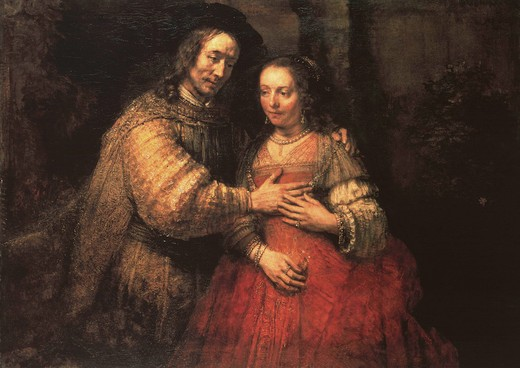 Stock Photo: 463-282814 Rembrandt, The Jewish Bride / c.1663