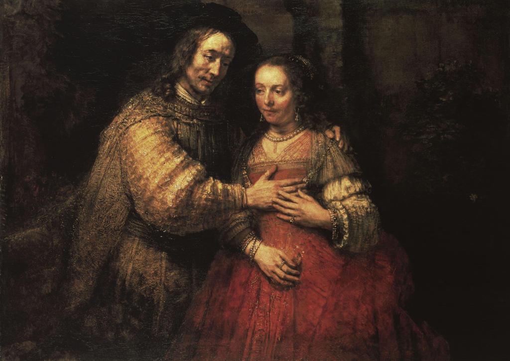 Rembrandt, The Jewish Bride / c.1663 : Stock Photo