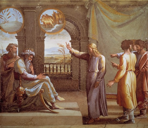 Stock Photo: 463-282839 Raphael/Joseph a.Pharaoh's dreams/c.1515