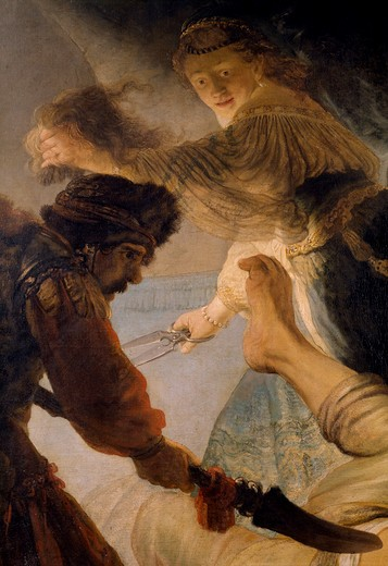 Stock Photo: 463-282907 Rembrandt / Blinding of Samson / Detail