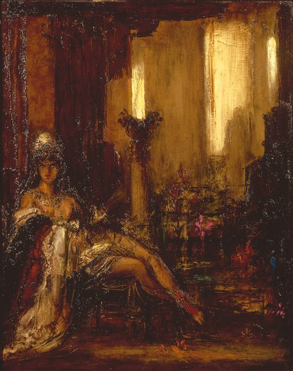 Stock Photo: 463-282909 Delilah / Painting by Gustave Moreau