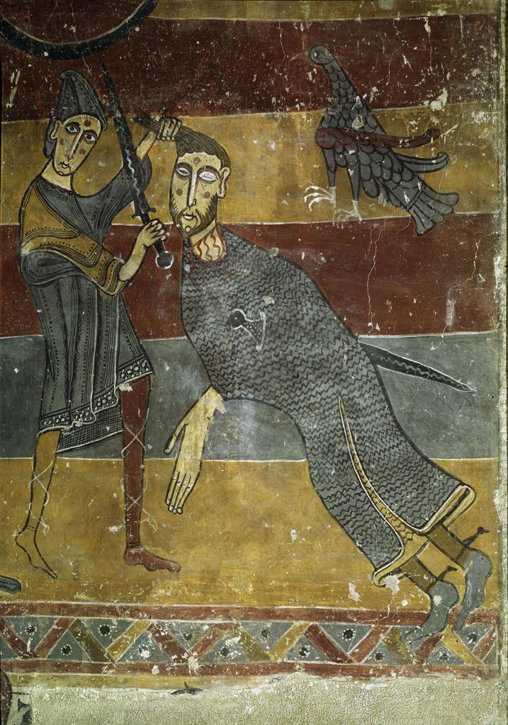 Stock Photo: 463-282920 David and Goliath / Spanish wall ptg.