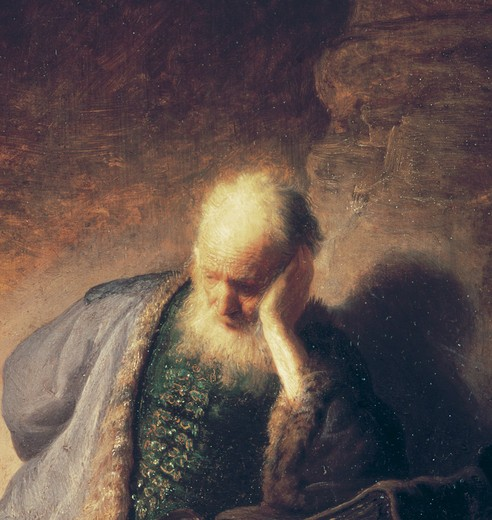 Rembrandt / Jeremiah / Detail / 1630 : Stock Photo