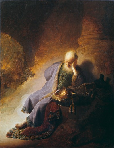 Rembrandt / Jeremiah / Painting / 1630 : Stock Photo