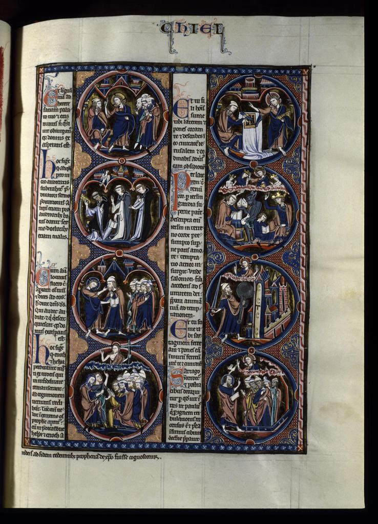 Stock Photo: 463-283048 Book of Ezekiel / Illumination / c.1230