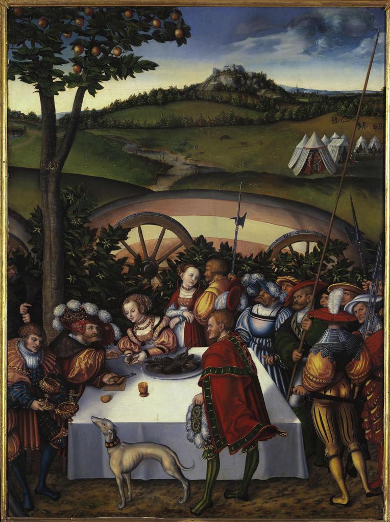Stock Photo: 463-283126 Cranach t.E/Judith at Holofernes' table