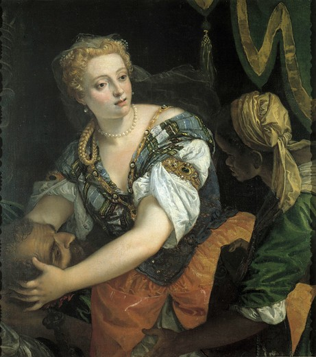 Stock Photo: 463-283131 Judith w.Holofernes' Head/Veronese/1570s