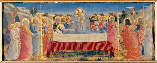 Stock Photo: 463-283181 Fra Angelico / Burial of Mary / c.1434