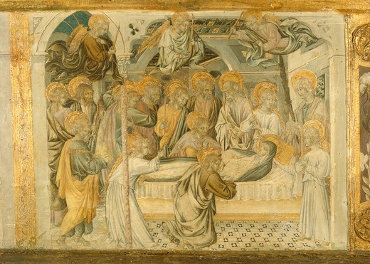 Giovanni di Paolo, Death of Mary : Stock Photo