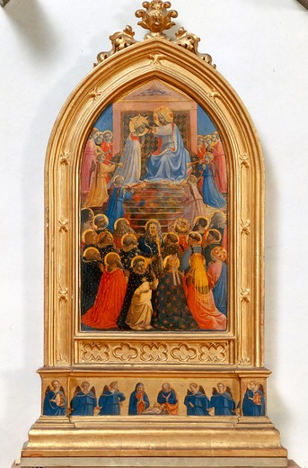 Stock Photo: 463-283203 Fra Angelico /Coronation of Mary/ C15th