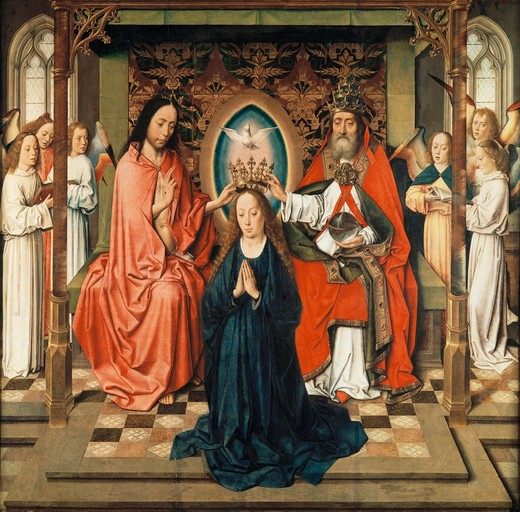 Coronation of Mary / Bouts / 1455/60 : Stock Photo